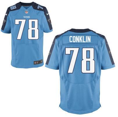 Men's Tennessee Titans #78 Jack Conklin Nike Light Blue Elite 2016 Draft Pick Jersey