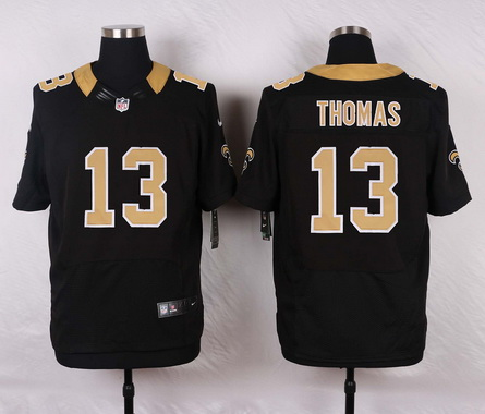 Men's New Orleans Saints #13 Michael Thomas Black Team Color NFL Nike Elite