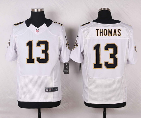 Men's New Orleans Saints #13 Michael Thomas White Road NFL Nike Elite Jersey