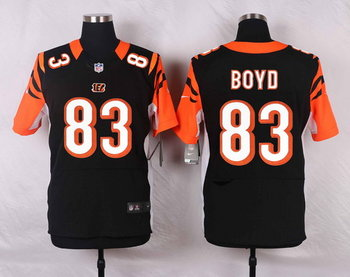 Nike Cincinnati Bengals #83 Tyler Boyd Black Team Color Men's Elite Jersey