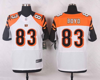 Nike Cincinnati Bengals #83 Tyler Boyd White Road Men's Elite Jersey