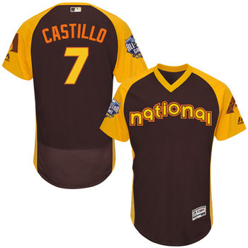 National League Arizona Diamondbacks #7 Welington Castillo Brown 2016 All-Star Jersey - Men's