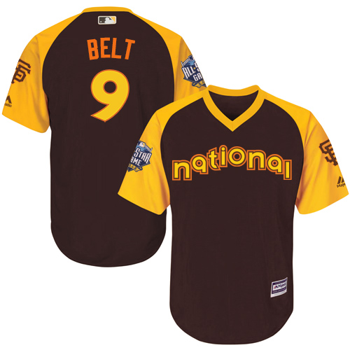 National League San Francisco Giants #9 Brandon Belt Brown 2016 MLB All-Star Jersey - Men's