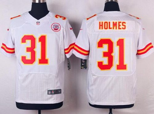Kansas City Chiefs #31 Priest Holmes White Retired Player NFL Nike Elite Jersey