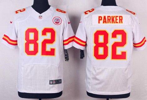 Kansas City Chiefs #82 Brian Parker White Nike Elite Jersey