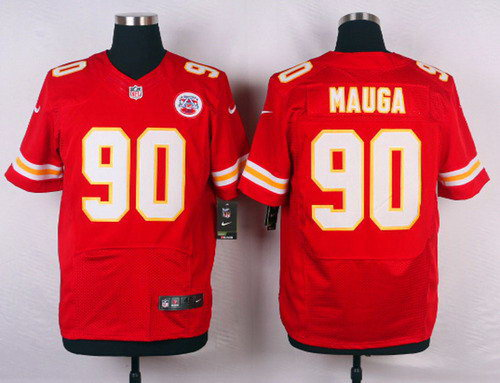 Kansas City Chiefs Josh Mauga #90 Red Elite Stitched Jerseys