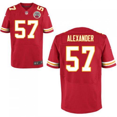 Kansas City Chiefs #57 D. J. Alexander Red Nike Elite Jersey
