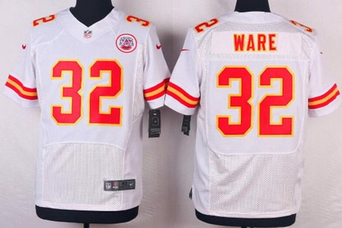 Kansas City Chiefs #32 Spencer Ware White Road NFL Nike Elite Jersey