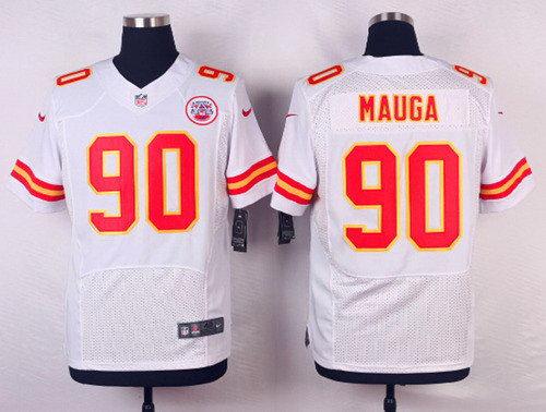Kansas City Chiefs Josh Mauga #90 White Elite Stitched Jerseys