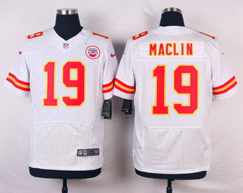 Kansas City Chiefs Jeremy Maclin #19 White Elite NFL Jersey