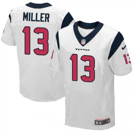 Houston Texans #13 Braxton Miller White Men's Stitched NFL Jersey