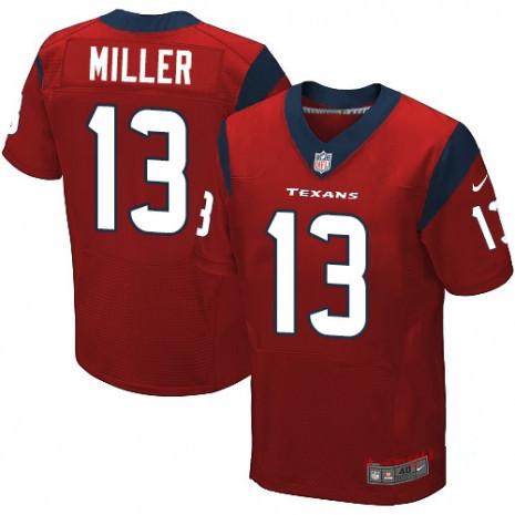 Houston Texans #13 Braxton Miller Red Men's Stitched NFL Jersey