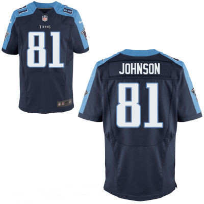 Tennessee Titans #81 Andre Johnson Navy Blue Alternate Men's Stitched NFL Jersey