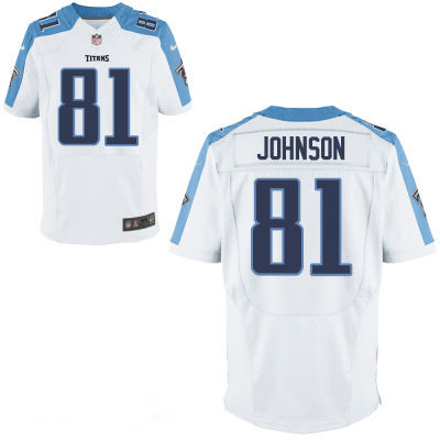 Tennessee Titans #81 Andre Johnson White Men's Stitched NFL Jersey
