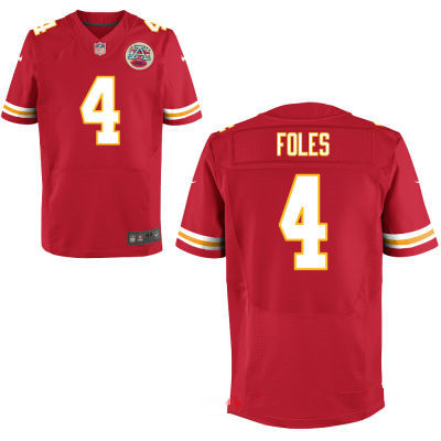 Kansas City Chiefs #4 Nick Foles Red Team Color Men's Stitched Jersey
