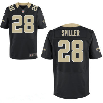 New Orleans Saints #28 C.J. Spiller Black Team Color Stitched NFL Nike Elite Men's Jersey