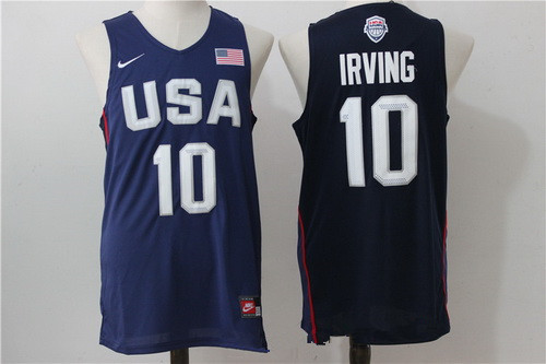 2016 Olympics Team USA Men's #10 Kyrie Irving Navy Blue Revolution 30 NBA Jersey