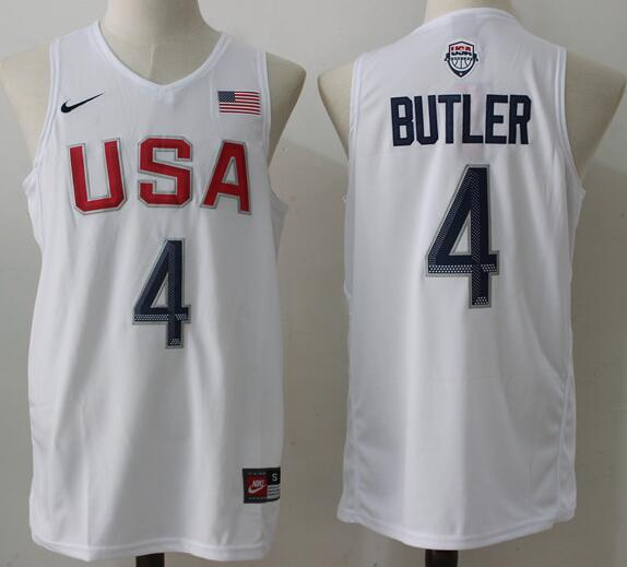2016 Olympics Team USA Men's #4 Jimmy Butler White Stitched NBA Nike Jersey