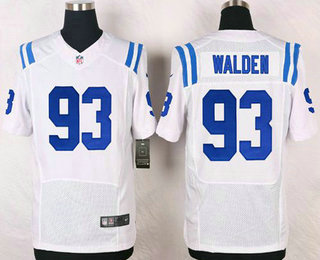 Indianapolis Colts #93 Erik Walden Stitched White Road NFL Nike Elite Jersey