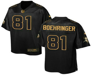 Minnesota Vikings #81 Moritz Boehringer Black Stitched NFL Elite Pro Line Gold Collection Jersey