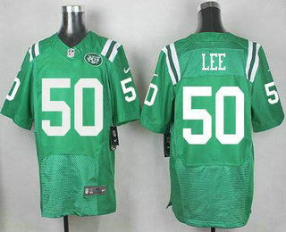 New York Jets #50 Darron Lee Nike Kelly Stitched Green Color Rush 2015 NFL Elite Jersey