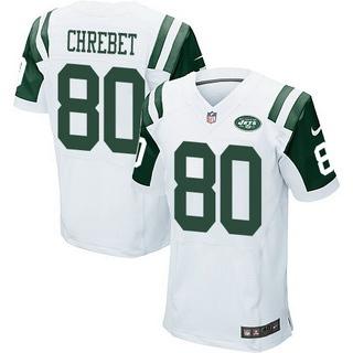 New York Jets #80 Wayne Chrebet White Retired Player NFL Nike Stitched Elite Jersey
