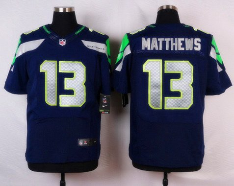 Seattle Seahawks #13 Chris Matthews Navy Blue Team Color NFL Nike Stitched Elite Jersey