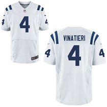 Stitched Nike Indianapolis Colts 4 Adam Vinatieri White Elite Jerseys
