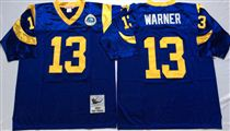 St. Louis Rams #13 Warner Light Blue Stitched Mitchell and Ness NFL Jersey
