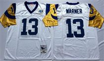 St. Louis Rams #13 Warner Stitched Mitchell and Ness NFL Jersey