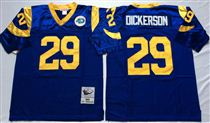 St. Louis Rams #29 Eric Dickerson Light Blue Stitched Mitchell and Ness NFL Jersey