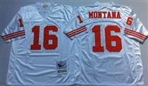 San Francisco 49ers #16 Joe Montana White Stitched Mitness and Ness NFL Jersey