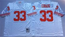 San Francisco 49ers #33 Roger Craig White Stitched Mitness and Ness NFL Jersey