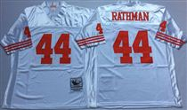 San Francisco 49ers #44 Tom Rathman White Stitched Mitness and Ness NFL Jersey
