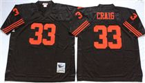 San Francisco 49ers #33 Roger Craig Black Stitched Mitness and Ness NFL Jersey