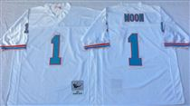 Tennessee Oliers #1 Warren Moon Stitched White Mitchell and Ness NFL Jersey