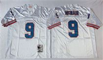 Tennessee Oliers #9 Steve McNair  Stitched White Mitchell and Ness NFL Jersey