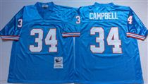 Tennessee Oliers #34 Earl Campbell Stitched Blue Mitchell and Ness NFL Jersey