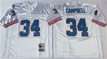 Tennessee Oliers #34 Earl Campbell Stitched White Mitchell and Ness NFL Jersey