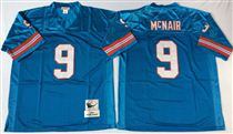 Tennessee Oliers #9 Steve McNair Stitched Blue Mitchell and Ness NFL Jersey