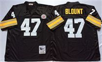Pittsburgh Steelers #47 Mel Blount Black Stitched Mitchell and Ness NFL Jersey
