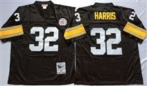 Pittsburgh Steelers #32 Franco Harris Black Stitched Mitchell and Ness NFL Jersey