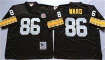 Pittsburgh Steelers #86 Hines Ward Black Stitched Mitchell and Ness NFL Jersey