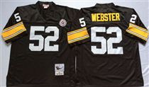 Pittsburgh Steelers #52 Mike Webster Black Stitched Mitchell and Ness NFL Jersey