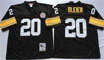 Pittsburgh Steelers #20 Rocky Bleier Black Stitched Mitchell and Ness NFL Jersey
