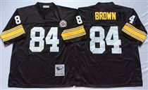 Pittsburgh Steelers #84 Antonio Brown Black Stitched Mitchell and Ness NFL Jersey