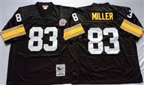 Pittsburgh Steelers #83 Louis Lipps Black Stitched Mitchell and Ness NFL Jersey