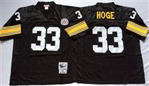 Pittsburgh Steelers #33 Merril Hodge Black Stitched Mitchell and Ness NFL Jersey