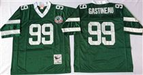 New York Jets #99 Mark Gastineau Green Stitched Mitchell and Ness NFL Jersey
