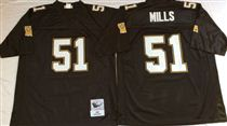 New Orleans Saints #51 Sam Mills Black Stitched Mitchell and Ness NFL Jersey